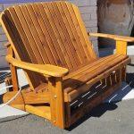 Western Red Cedar Love seat Glider