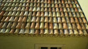 Reclaimed Spanish terracotta roof cups