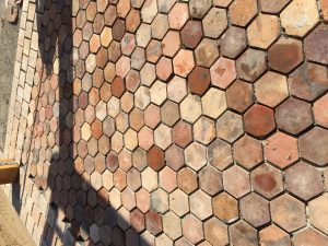 Reclaimed French Terracotta Hexagons