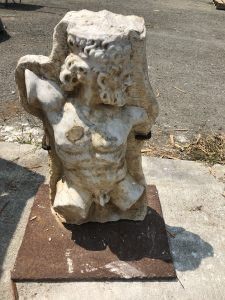 Italian statue hand sculpted marble Hercules Bust