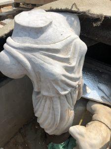 "Carrera Marble Statue, ""Venus en Robe"" Emiliano."