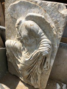 Nike statue carrera marble