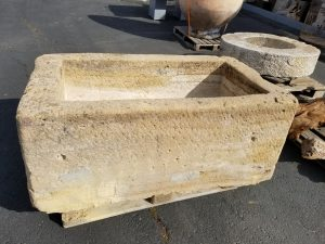 Large antique french trough