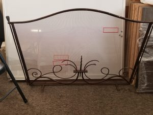 Fire screen three piece