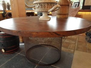 copper table 60 inch