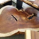 Parota wood coffee table