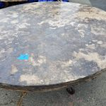 Unique travertine stone round table