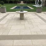 """French limestone hardscape featuring """"Clair"""""""
