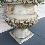 Crushed marble aged urn