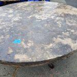 Unique travertine stone round table
