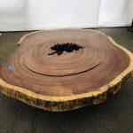 "Parota wood dining table, length 81"""