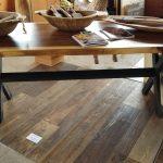 """Parota table with iron legs. 7' x 30"""""""